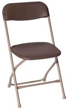 Where to rent CHAIR FOLDING BROWN in Wilmington DE